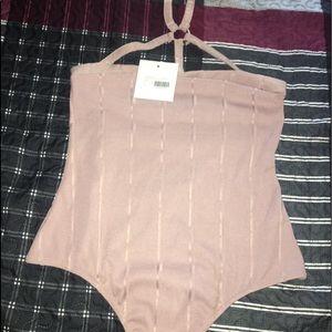Collar blush bodysuits size 10